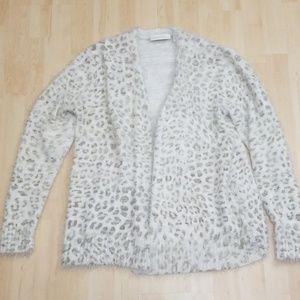 CYNTHIA ROWLEY white cheetah cardigan